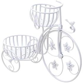 Suport metalic flori alb Bicicleta 60 cm x 24 cm x 47 cm