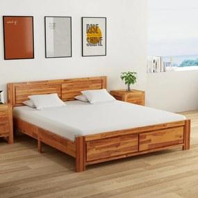 288320 vidaXL Cadru de pat, 180 x 200 cm, lemn masiv de acacia