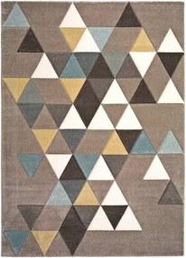 Covor Universal Gris Multi Triangle, 60 x 120 cm