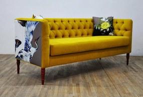 Sofa Loveseat - Yellow Love (3 Locuri)