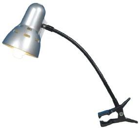 LAMPA BIROU CU CLAMA THOMAS, E14, 40W, 8X10.5X30 CM, ARGINTIU