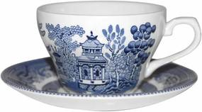 Cană din ceramică Churchill China Blue Willow, 200 ml