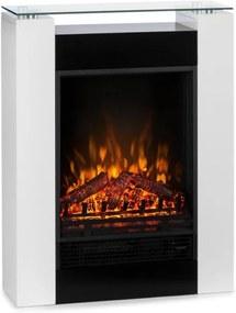Klarstein STUDIO 5, șemineu electric, ventilator de căldură, 900 / 1800W, alb