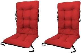 Set Perne pentru scaun de gradina sau sezlong, 48x48x75cm, culoare rosu, 2buc/set