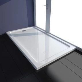 Cădiță duș dreptunghiulară ABS 70 x 120 cm Alb