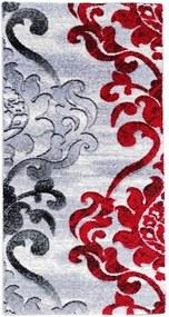 Traversa Tribal , rosu gri, latime 150 cm (surfilata)