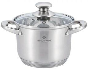 Oala cu capac otel inoxidabil 24 cm Satin Gourmet Line Blaumann BL 3315