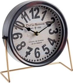 Ceas de masa metal negru Chef le Normand 25x22h