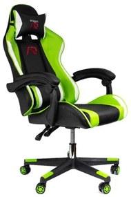 Scaun de gaming verde-negru