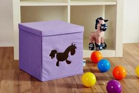 Cutie cu capac pentru depozitare violet - Pony