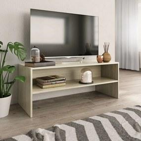 800048 vidaXL Comodă TV, stejar Sonoma, 100 x 40 x 40 cm, PAL