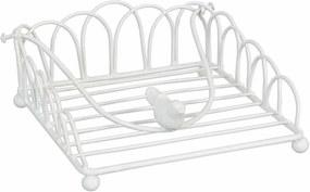 Suport servetele metal alb Bird White 20 cm x 20 cm x 9 cm