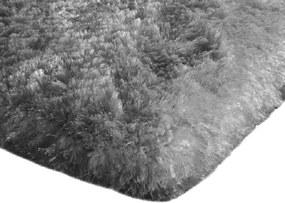 Covor Plusat 140x200 cm, pentru Interior cu Izolare Termica in Partea Inferioara, Culoare Gri