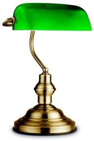 Globo 24934 - Lampă de masă ANTIQUE BANK 1xE27/60W/230V