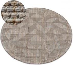 Covor Nature rotund SL160 bej sisal Boho cerc 80 cm