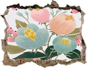 Autocolant un zid spart cu priveliște Model floral