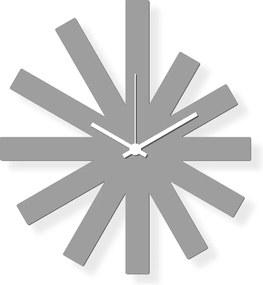 Ceas de perete de dimensiuni medii, sticlă acrilică gri 40x30xm - Grey Star | DSGN