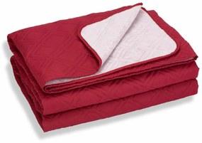 Cuvertura de pat Somnart, Bordeaux, microfibra soft-touch, 220X240 cm