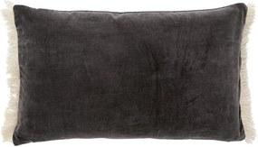 Fata de Perna din Catifea cu Franjuri - Catifea Gri inchis Latime (40 cm) x Lungime (65 cm)