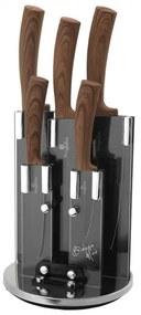 Set cutite otel inoxidabil cu suport rotativ (6 piese) Ebony Rosewood Berlinger Haus BH 2530