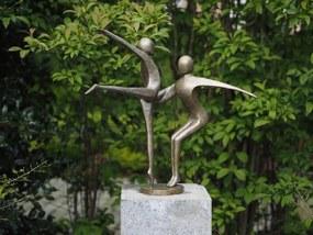 Statuie de bronz moderna 2 Dancing gymnast 57x55x37 cm