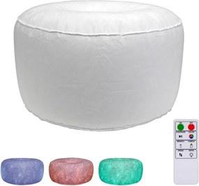 LED Taburet gonflabil cu telecomandă LED/5V/60cm