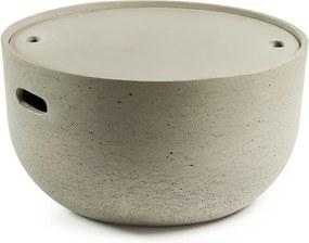 Măsuță auxiliară din ciment La Forma Rhett, gri