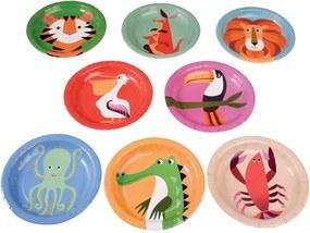 Set 8 farfurii Rex London Colourful Creatures