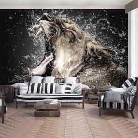 Fototapet - Leoaică în ploaie (254x184 cm), în 8 de alte dimensiuni noi