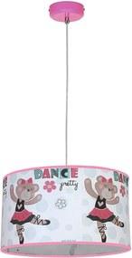 Lampă suspendată copii BAMBINO 1xE27/40W/230V roz