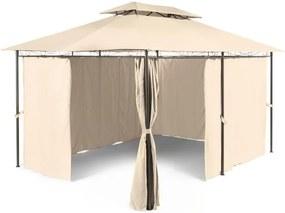 Blumfeldt GRANDEZZA, bej, pavilion de grădină, cort de petrecere, poliester, oțel, 3x4m