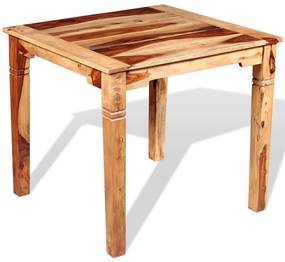 243962 vidaXL Masă de bucătărie, lemn masiv sheesham, 82 x 80 x 76 cm