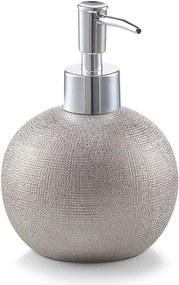 Dozator pentru sapun, Zeller, 15x 10 cm, 375ml, argintiu