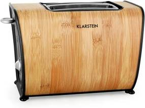 Klarstein Bamboo Garden Toaster 870W dublu bambus cu fantă