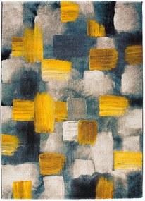 Covor Universal Lienzo, 160 x 230 cm, albastru - galben