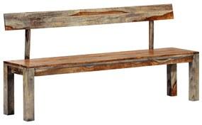 248010 vidaXL Bancă, gri, 160 cm, lemn masiv de sheesham