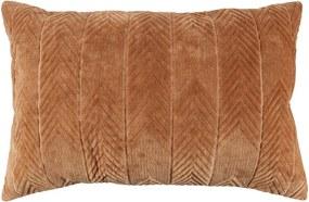 Pernă decorativă WOOOD Fallon Toffee, 40 x 60 cm, maro caramel