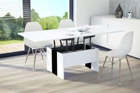 Mazzoni SOLO alb / negru, pliere, ridicare, masă de cafea