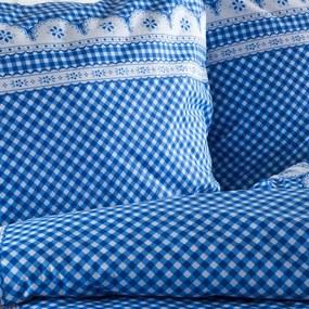 Lenjerie de pat din bumbac Matylda albastră lungime standard