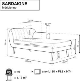 Șezlong Mazzini Sofas Sardaigne, mov