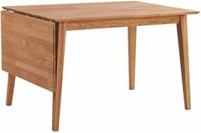 Masă de dining pliabilă din lemn de stejar natural Rowico Mimi, 120 x 80 cm