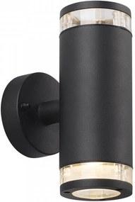 Aplica neagra din aluminiu si plastic cu 2 becuri pentru exterior Birk Black Nordlux