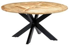 282763 vidaXL Masă de bucătărie, 150x76 cm, lemn masiv de mango, rotund