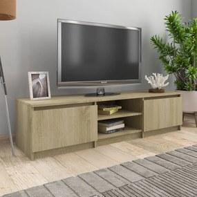 800651 vidaXL Comodă TV, stejar Sonoma, 140 x 40 x 35,5 cm, PAL
