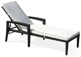 Sezlong reclinabil Perugia, alb/maro, 58 x 158 x 52 cm