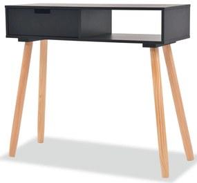 244738 vidaXL Masă consolă, lemn masiv de pin 80x30x72 cm, negru
