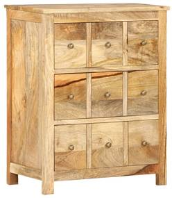 286368 vidaXL Dulap lateral, 60 x 35 x 75 cm, lemn masiv de mango