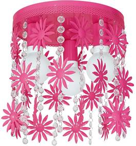 Plafoniera copii ELZA flowers 3xE27/60W/230V roz inchis