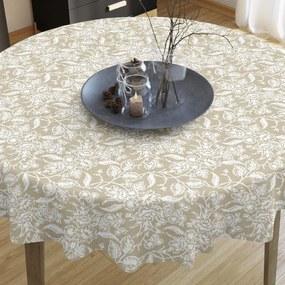 Goldea față de masă decorativă loneta - model 372 - rotundă Ø 60 cm