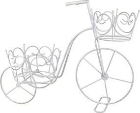 Suport flori bicicleta 2 ghivece White vintage